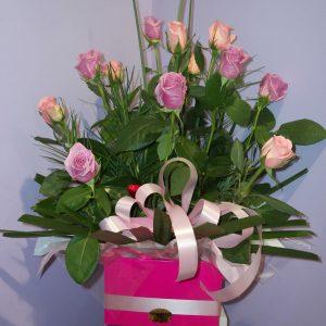 Fresh Bright Box Arrangement - Fresh Flowers - Flowers R Us