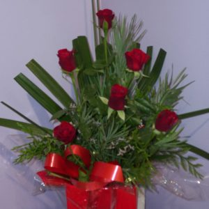 Fresh Red Half Dozen Rose Box - Fresh Flowers - Flowers R Us