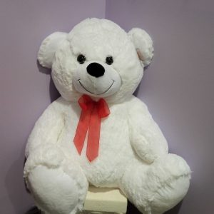 White Large Teddy - Teddies - Flowers R Us