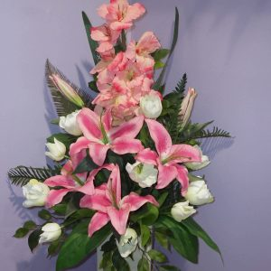 Silks Pink Oriental Beautiful Lilly - Silks - Flowers R Us