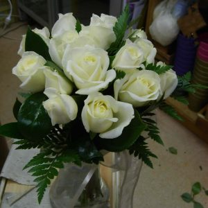 Wedding White Rose Bouquet Fresh - Weddings - Flowers R Us