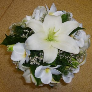 Wedding White Lilly Bouquet Fresh - Weddings - Flowers R Us