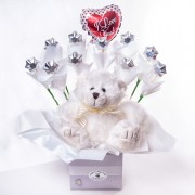 Teddy & Chocolate Boxes - Assorted Colors - Chocolates - Flowers R Us