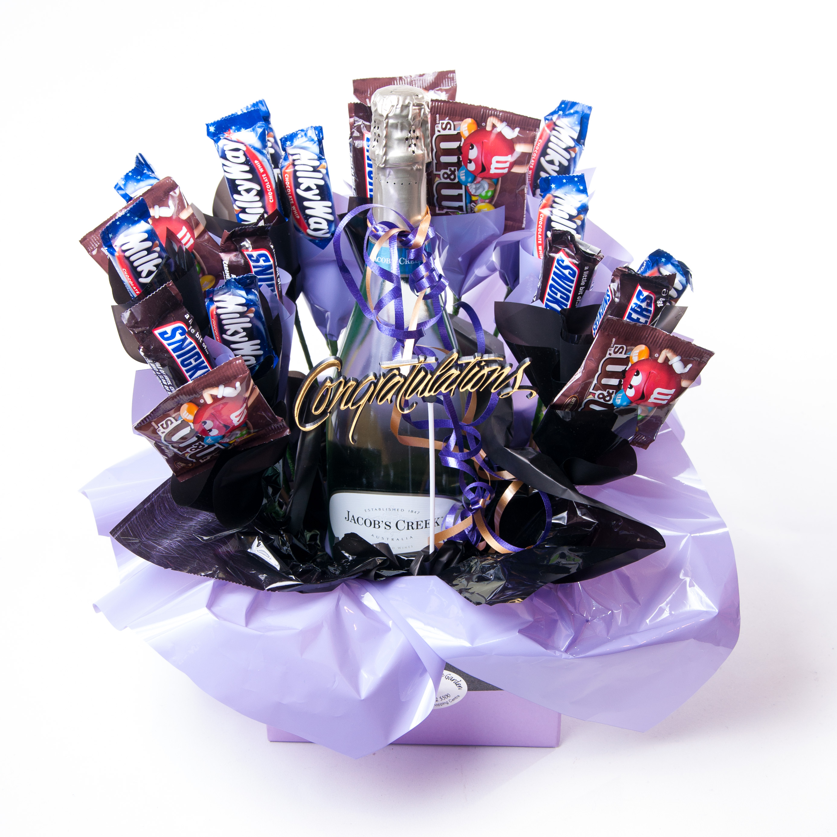 Mixed Chocolate Box With Wine Flowers R Us