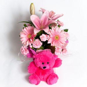 All Round Soft Pink Box Arrangement - Fresh Flowers - Flowers R Us