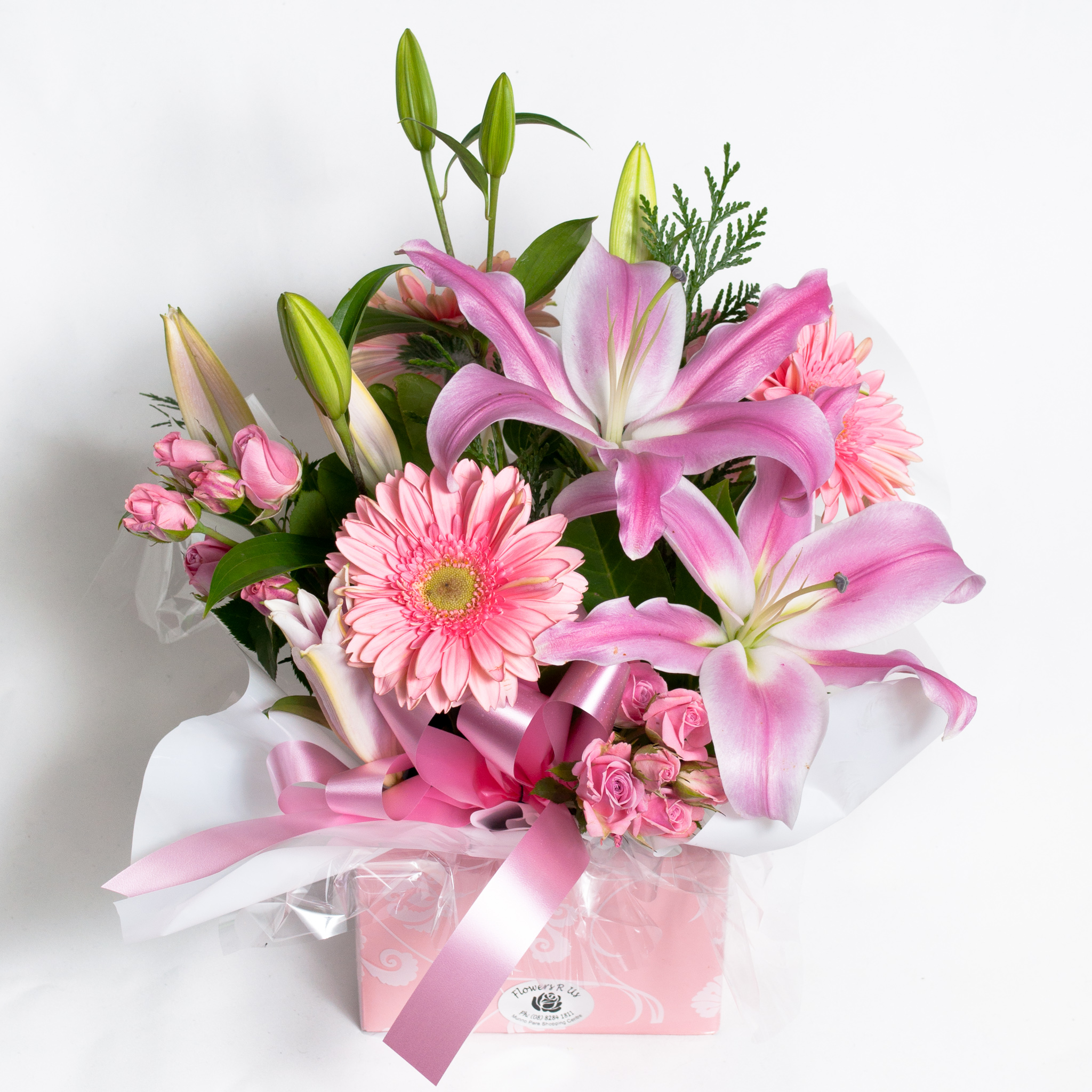Pink All Round Box Arrangement - Fresh Flowers - Flowers R Us