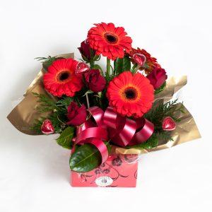 Beautiful Red Box Arrangement - Fresh Flowers - Flowers R Us