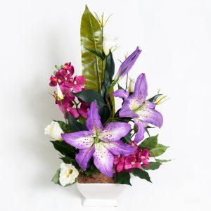 Silk Purple Lillies & Lizzies - Silks - Flowers R Us