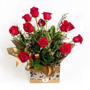 Dozen Long Stem Red Roses - Fresh Flowers - Flowers R Us