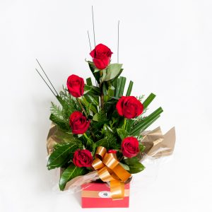 Half Dozen Long Stem Roses - Fresh Flowers - Flowers R Us