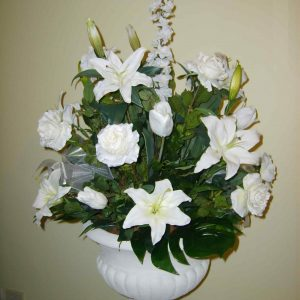 White Pedestal For Hire - Wedding Hire - Flowers R Us