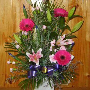 Fresh Pink Stunning Arrangement - Fresh Flowers - Flowers R Us