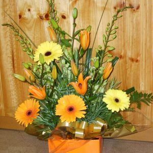 Mellow Yellow Box Arrangement - Fresh Flowers - Flowers R Us