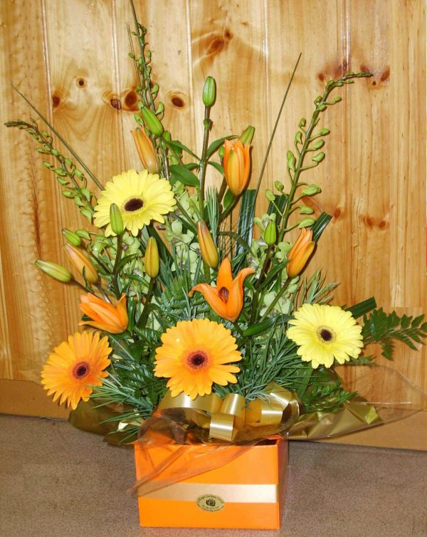Mellow Yellow Box Arrangement - Fresh Flowers - Flowers R Us