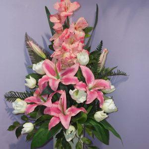 Silks Pink Oriental Beautiful Lilly - Silks - Flowers R Us