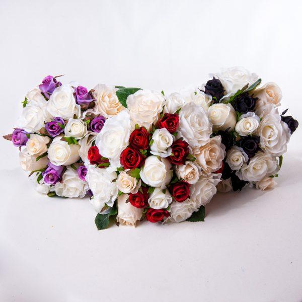 White Wedding Rose Bouquets Silk - Weddings - Flowers R Us