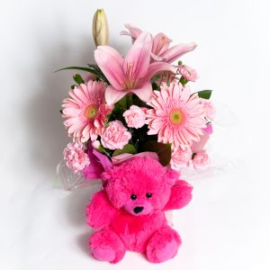 All Round Soft Pink Box Arrangement - Fresh Flowers - Flowers R Us