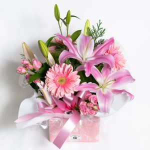 Pink All Round Box Arrangement - Fresh Flowers - Flowers R Us
