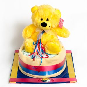 Nappy Cake - Crows & Port Adelaide Colors - New Child - Flowers R Us